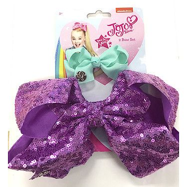JoJo Siwa Sequin Bow 2 Pack Lavender