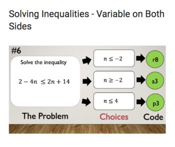Solving Inequalities Variable On Both Sides Bad Dog Breakout For Google Solving Inequalities Google Classroom Lessons Inequality