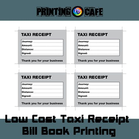 Taxi   Cab Fare Receipt Pads ,Bill books printing Cheap TAXI - invoice books custom