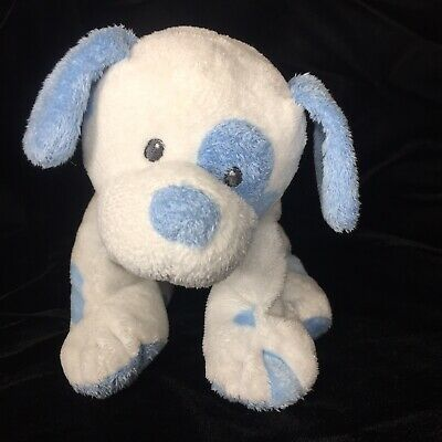 Details About Ty Pluffies Pups Soft Toy Blue Spot Puppy Dog Baby