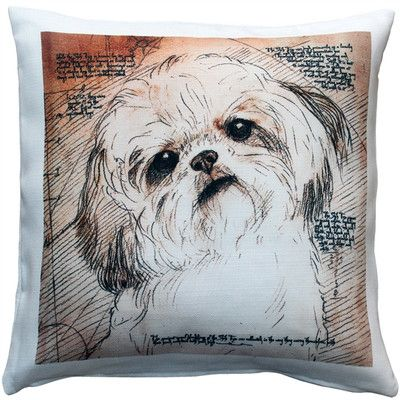 Latitude Run Niles Shih Tzu Tilted Head Dog Indoor Outdoor Throw Pillow Shih Tzu Shih Tzu Dog Dog Pillow