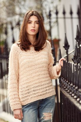 Alexandra Drop Shoulder Sweater Free Knitting Pattern