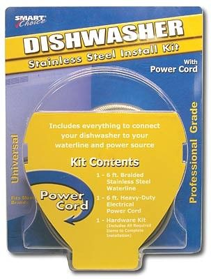 Smart Choice Dishwasher Installation Kit With Power Cord Dishwasher Installation Installation Power Cord