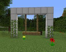 Children S Garden Swing Minecraft Building Blueprints Minecraft