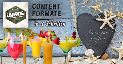 Content Formate in 11 Schritten