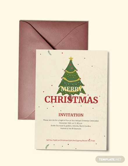 Elegant Merry Christmas Invitation Template Free Pdf Word Psd Apple Pages Publisher Outlook Christmas Invitations Template Christmas Invitations Christmas Templates
