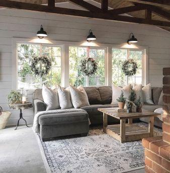 Delightful Modern Farmhouse Style Home Nestled Ideas 20 In 2020 Farmhouse Style Living Room Farm House Living Room Farmhouse Style Living Room Decor