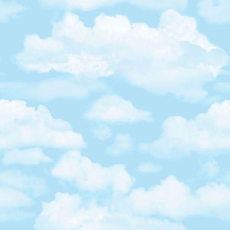 Sample Cloud Nine Wallpaper in Blue from the Kids Collection by Graham & Brown
