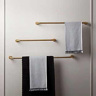 Rough Cast Brass Standing Toilet Paper Holder Reviews Cb2 Towel Bar Towel Rack Modern Towels