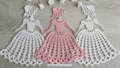 Crochet doily Crinoline Lady Doily lace Applique girl home | Etsy