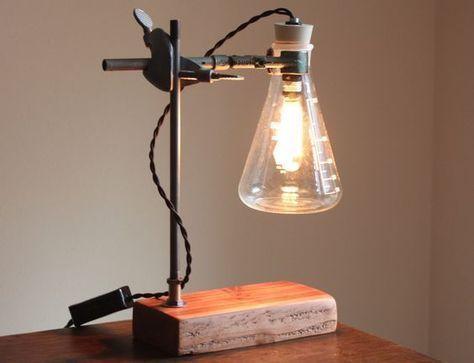 Desk Lamp Lampindustrial Homedecorideaspaint Luci Bottiglia Illuminazione Edison Lampade Industriali