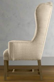 custom wingback parsons chair with skirt dining chairs kitchen and dining room furniture furniture furniture pinterest