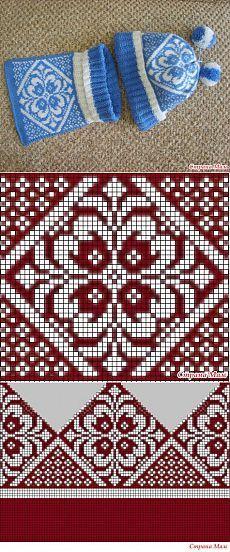 Fair Isle pattern... ЖАККАРД … | Pinteres…