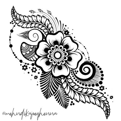 o much inspiration comes from my sweet friend and talented mentor @kiransahib_henna .... this design isn't lifted from her work and I