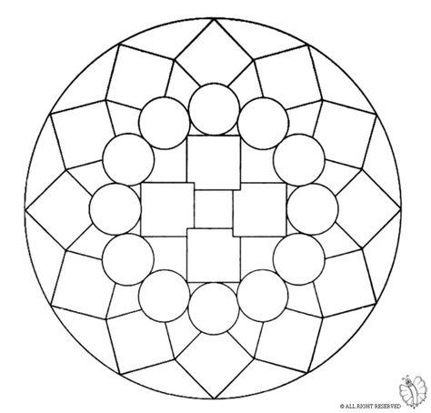 Disegno Di Mandala 1 Da Colorare Per Bambini Con Mandala Da