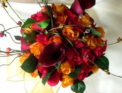 31+ ideas for flowers red orange bridal bouquets #flowers