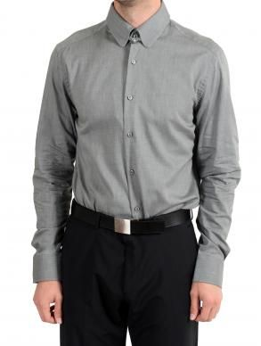 "Hugo Boss /""T-Swain/"" Men/'s Gray Slim Fit Long Sleeve Dress Shirt"