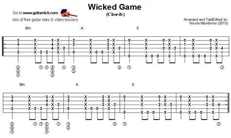 Wicked Game Acoustic Fingerstyle Guitar KARAOKE Playback James ...
