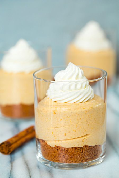 No Bake Cheesecakes with Salted Caramel Sauce   Cooking Classy