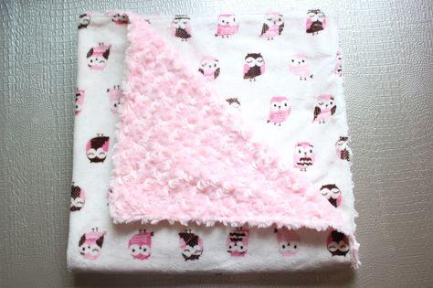 Mantita para bebé con tela minky ~  Blog de Costura + DIY