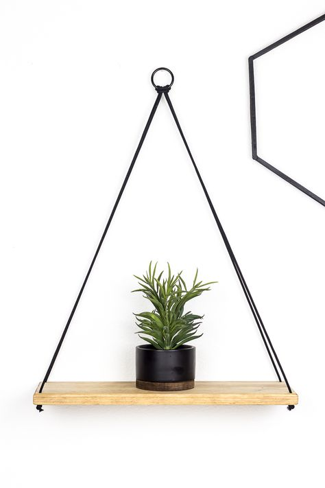 How to Build a Simple DIY Hanging Shelf