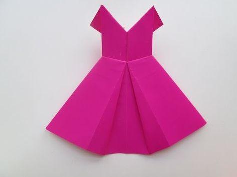Comment faire une robe avec du papier coloré - YouTube