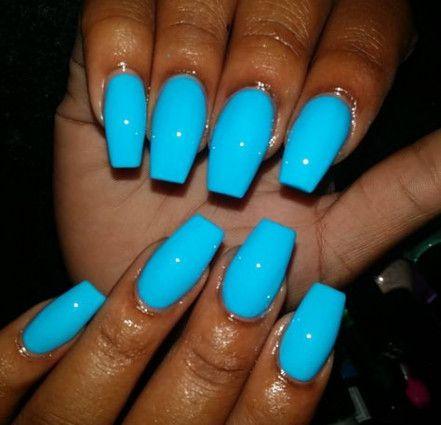 summer coffin baby blue nail designs