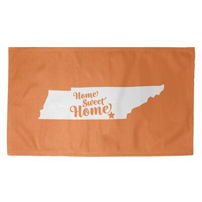 East Urban Home Home Sweet Chattanooga Orange Area Rug Rug Size