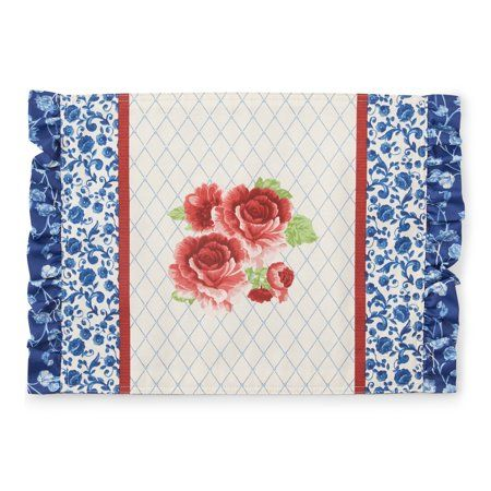 The Pioneer Woman Frontier Rose Placemat Walmart Com Pioneer Woman Placemats Pioneer Woman Dining Table Decor