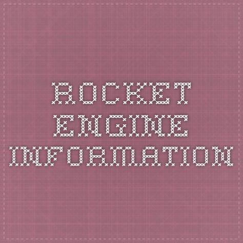 Rocket Engine Information