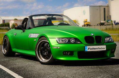 Details Zu 3d Chrom Matt Metallic Grun Mit Luftkanalen Car Wrapping