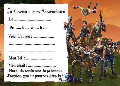 invitation anniversaire fortnite from