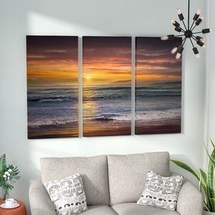 3 Piece Wall Art You Ll Love Wayfair Ocean Wall Art Beach Wall Decor Coastal Wall Art