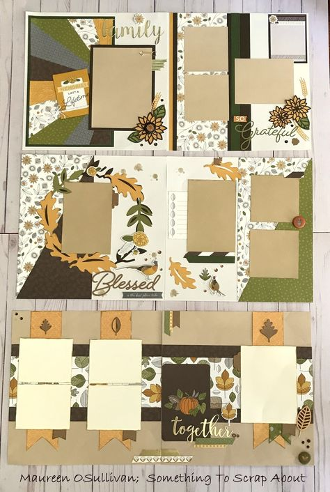 """Hi, Happy October! A few weeks ago, I created some Fall layouts using CTMH's """"Falling For You"""" line. I'll be teaching classes on these LO..."""