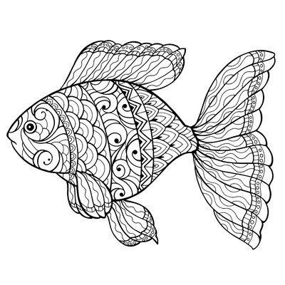 Smart Tiles Mandala Fish Giant Peel And Stick Wall Decal Fish Drawings Color Hand Painting Art