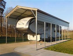 18x41 Vertical Style Metal Carport Alan S Factory Outlet In 2020 Metal Carports Steel Carports Portable Buildings