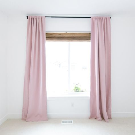 Blush Blackout Curtain Set In 2020 Blush Blackout Curtains Childrens Wall Decor Nursery Curtains Girl