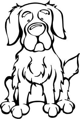 Golden Retriever Decal Dog With Images Dog Coloring Page Dog