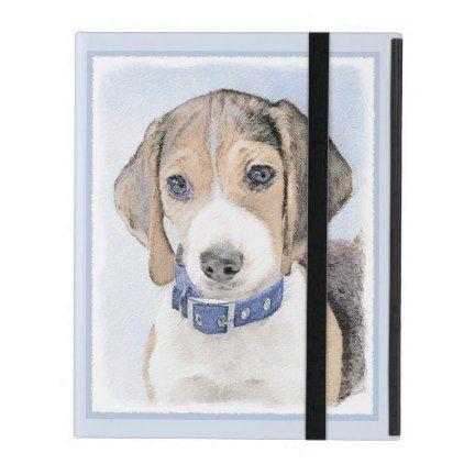 Beagle Painting Cute Original Art Ipad Case Zazzle Com Art