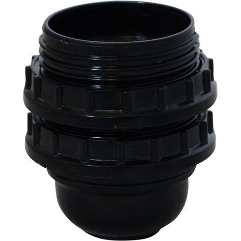 Douille A Vis E27 Plastique Noir Tibelec Products En 2019 Douille Plastique Et Noir