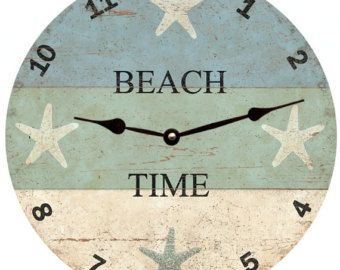 Whatever I M On Beach Time Clock Whatever Wall Clock Con Imagenes Relojes De Madera Decoracion De Unas Palets