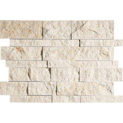 Marblesystems Seashell Random Sized Limestone Mosaic Tile