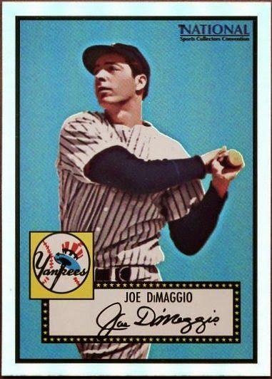 Topps Joe Dimaggio Promo Card Cards Baseball Cards Joe Dimaggio