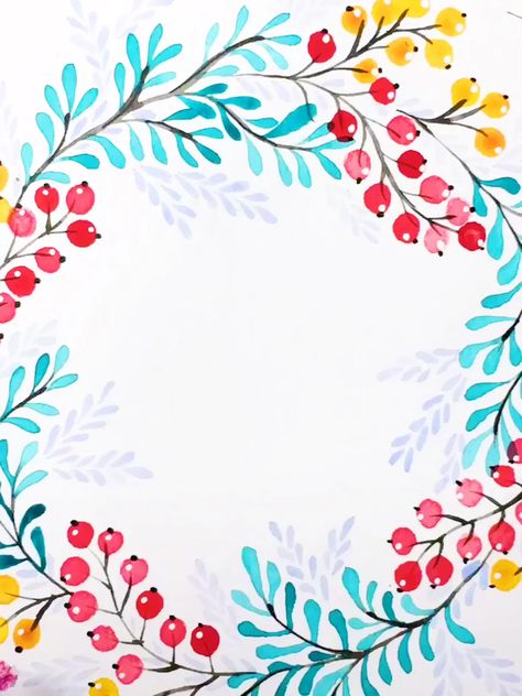 """Vintage Watercolor Wreath👉www.paperhouse.me💝Get $3 with code """"PIN3""""💝Paperhouse Stationery"""