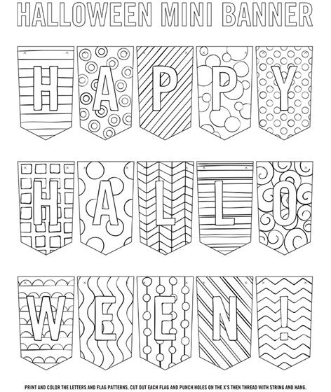 Halloween Banner Halloween Banner Halloween Coloring Pages Crayola Coloring Pages