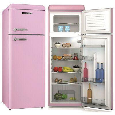 Ebay Sponsored Schneider Retro Kuhl Gefrierkombination Kuhlschrank Sdd 208v2 P Pink 206 Liter Eek A Retro Fridge Retro Fridge Freezer Refrigerator