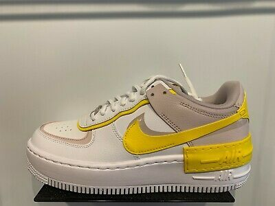 Nike Air Force 1 Shadow White Barley Rose Yellow Womens Size 6 10