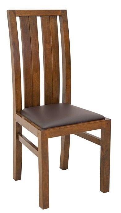 Chaise moderne bois et assise marron ATTAN | Salle à manger