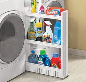 Slim Slide Out Cart Laundry Room Storage Laundry Room