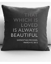 personalized always beautiful quote throw pillow cover